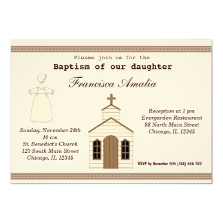 Taufe 12,7 X 17,8 Cm Einladungskarte