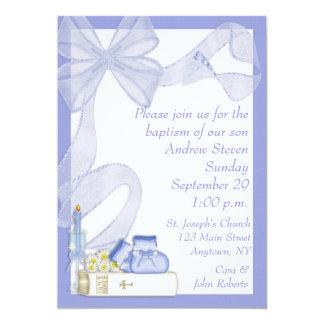 Taufe-blaue Bogen-Einladung 12,7 X 17,8 Cm Einladungskarte