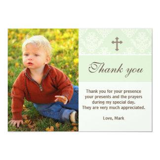 Taufe danken Ihnen, kundenspezifische 12,7 X 17,8 Cm Einladungskarte