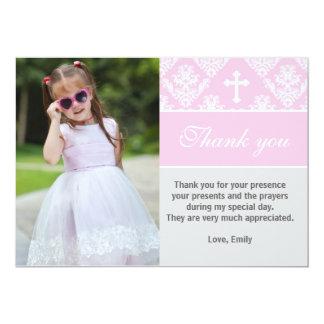 Taufe danken Ihnen, kundenspezifisches 12,7 X 17,8 Cm Einladungskarte