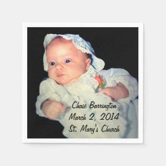 Taufe das Babyspecial-Foto Serviette