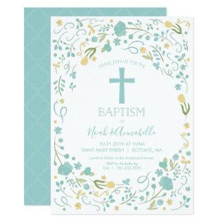 Taufe-Einladung für Jungen und/oder Mädchen mit Karte