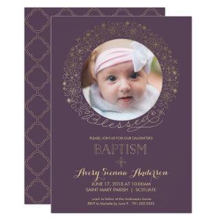Taufe, TaufFoto-Einladung, Mädchens 12,7 X 17,8 Cm Einladungskarte