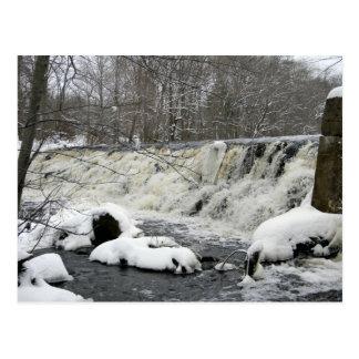 Taunton-Fluss-Wasserfall-Postkarte Postkarte