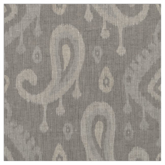 Taupe Ikat Paisley großer Umfang Stoff