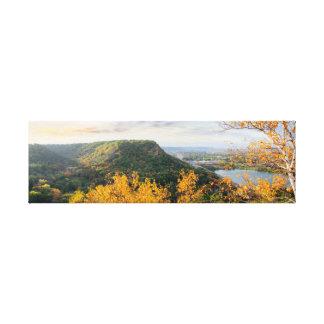 "Täuschung u. Birken-Panorama 26.5x8 1,5"" Leinwanddruck"