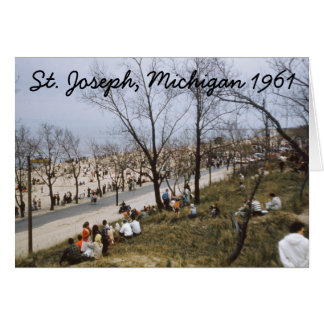Täuschungs-Gruß-Karte 1961 St Joseph Michigan Karte