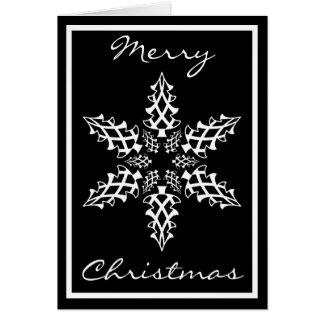 Täuschungs-Schneeflocke-Weihnachtsgruß Karte