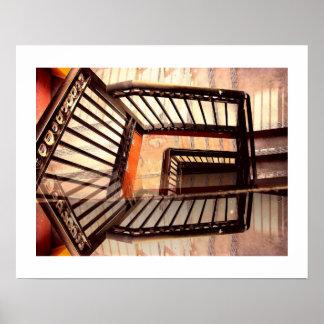 Täuschungs-Treppe Poster
