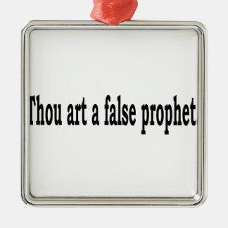 Tausend-Kunst ein falscher Prophet Silbernes Ornament
