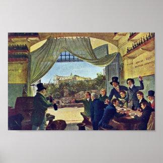 Taverne-Szene durch Cornelius Peter Von (beste Qua Poster