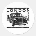 Taxi de Londres Autocollant Rond