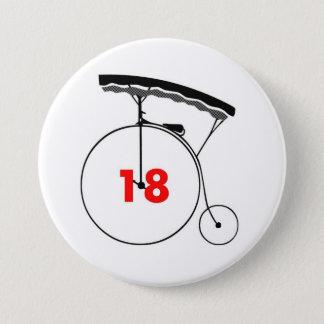 Taxi-Fahrer 18 Runder Button 7,6 Cm