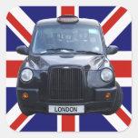Taxi noir de Londres Autocollants