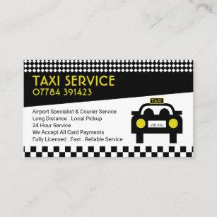 Taxi-Station/Fahrer, Preisliste Visitenkarte
