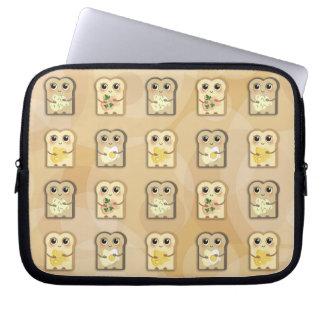 TBA_Cute wenig Toasties Muster-Laptophülse Laptopschutzhülle