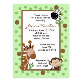 {TBA} Dschungel-Abenteuer-Safari-Babyparty Postkarte