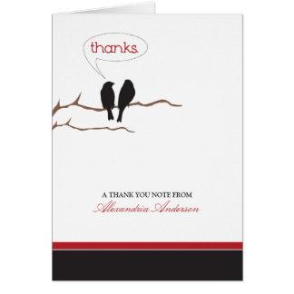 {TBA} Kleine Piepmatz-Gewohnheit danken Ihnen zu Mitteilungskarte