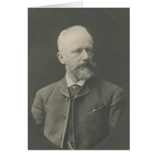 Tchaikovsky Porträt Grußkarte