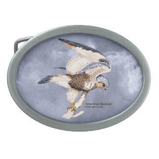 TCWC - Amerikanische Kestrel-Illustration Ovale Gürtelschnallen
