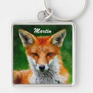 TCWC - Roter Fox-Aquarell-Malerei Schlüsselanhänger