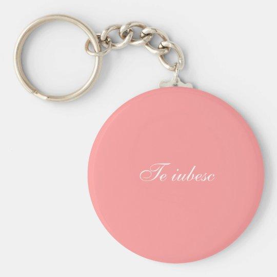 Te iubesc keychain (i-Liebe Sie auf Rumänen) Standard Runder Schlüsselanhänger