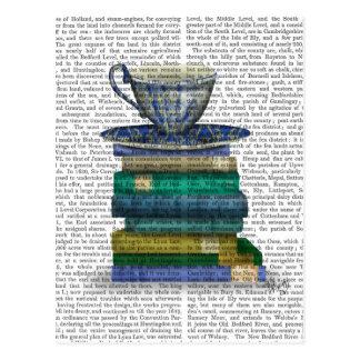 Teacup und Bücher Postkarte