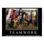 Team-Arbeit Grußkarte