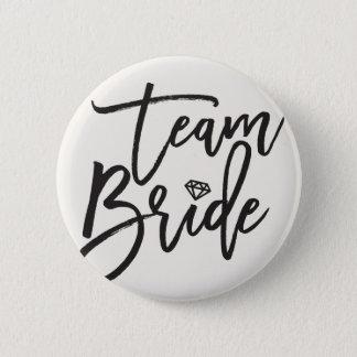 Team-Braut-Diamant-Brautparty-Hochzeits-Knopf Runder Button 5,7 Cm