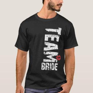 Team-Braut-großer Schmutz-Text T-Shirt