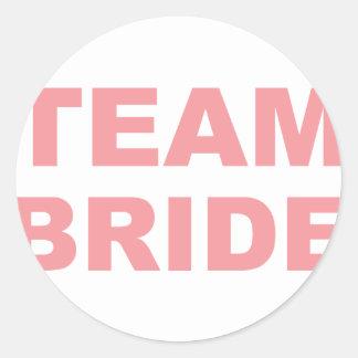 Team-Braut-Hochzeits-Henne-Party Runder Aufkleber