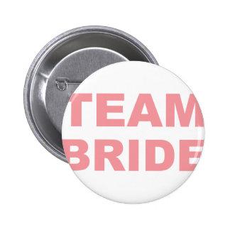 Team-Braut-Hochzeits-Henne-Party Runder Button 5,1 Cm