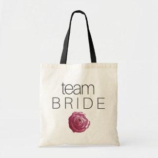 TEAM-BRAUT - Hochzeitsbrautjungfern-Taschentasche Budget Stoffbeutel