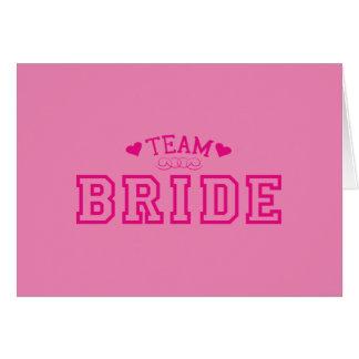 Team-Braut Karte