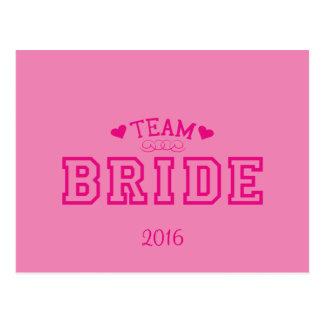 Team-Braut Postkarte