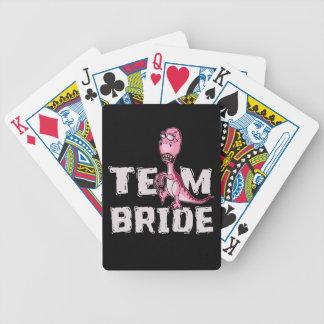 Team-Braut-Rosa-Dinosaurier-Brautparty Bicycle Spielkarten
