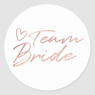 Team-Braut - Rosen-GoldImitat vereitelt Aufkleber