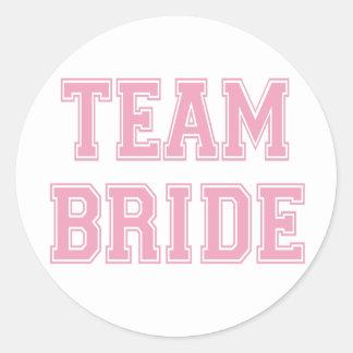 Team-Braut Runder Aufkleber