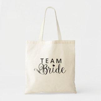 Team-Braut-Taschen-Budget-Leinwand-Taschen-Tasche Budget Stoffbeutel