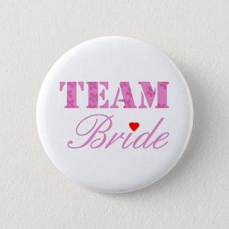 Team-Braut-Thema Runder Button 5,1 Cm