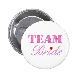 Team-Braut-Thema Runder Button 5,1 Cm