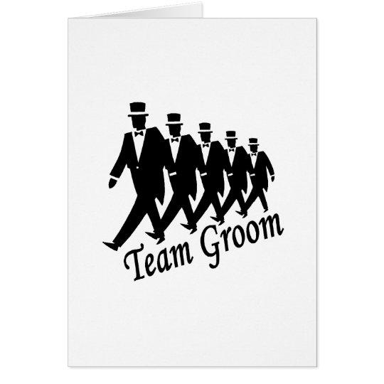 Team-Bräutigam Grußkarte