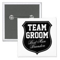 Team-Bräutigam knöpft | personifizieren für Anstecknadelbutton