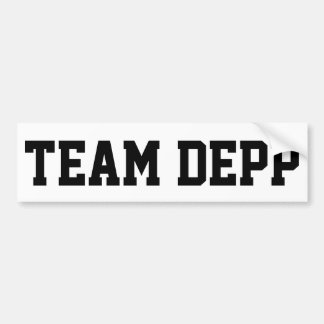"""""""TEAM DEPP """" AUTOAUFKLEBER"""
