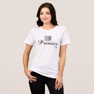 Team-erster T-Shirt- Weiß Relaxedfit T-Shirt