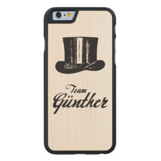 Team Günther iPhone Case Carved® iPhone 6 Hülle Ahorn