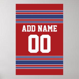 Team Jersey mit individuellem Namen und Zahl Poster