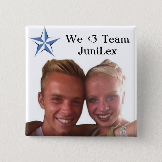 Team JuniLex Buttone Quadratischer Button 5,1 Cm