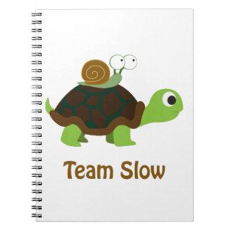 Team langsam spiral notizbuch