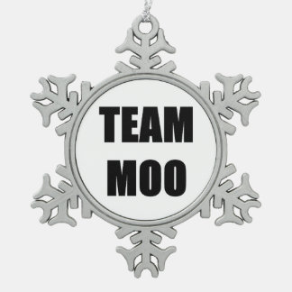 TEAM-MOO-VERZIERUNG SCHNEEFLOCKEN Zinn-Ornament